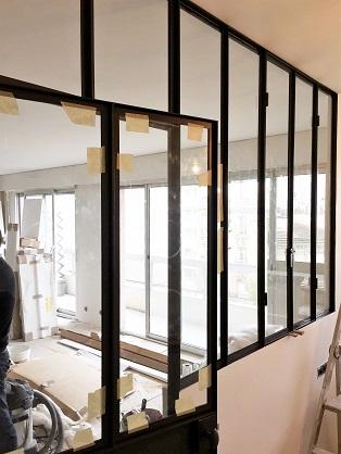 Cloison acier verre type atelier paris 75 montage parcloses