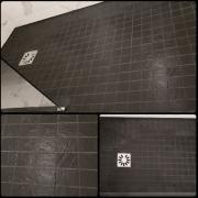 Douche italienne paris 07 mosaique noire et joint epoxy noir