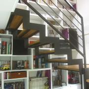 Escalier acier bois 1