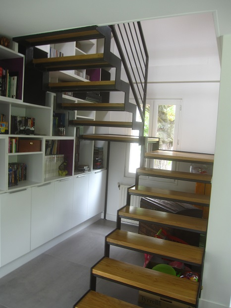 Escalier acier bois apres 1