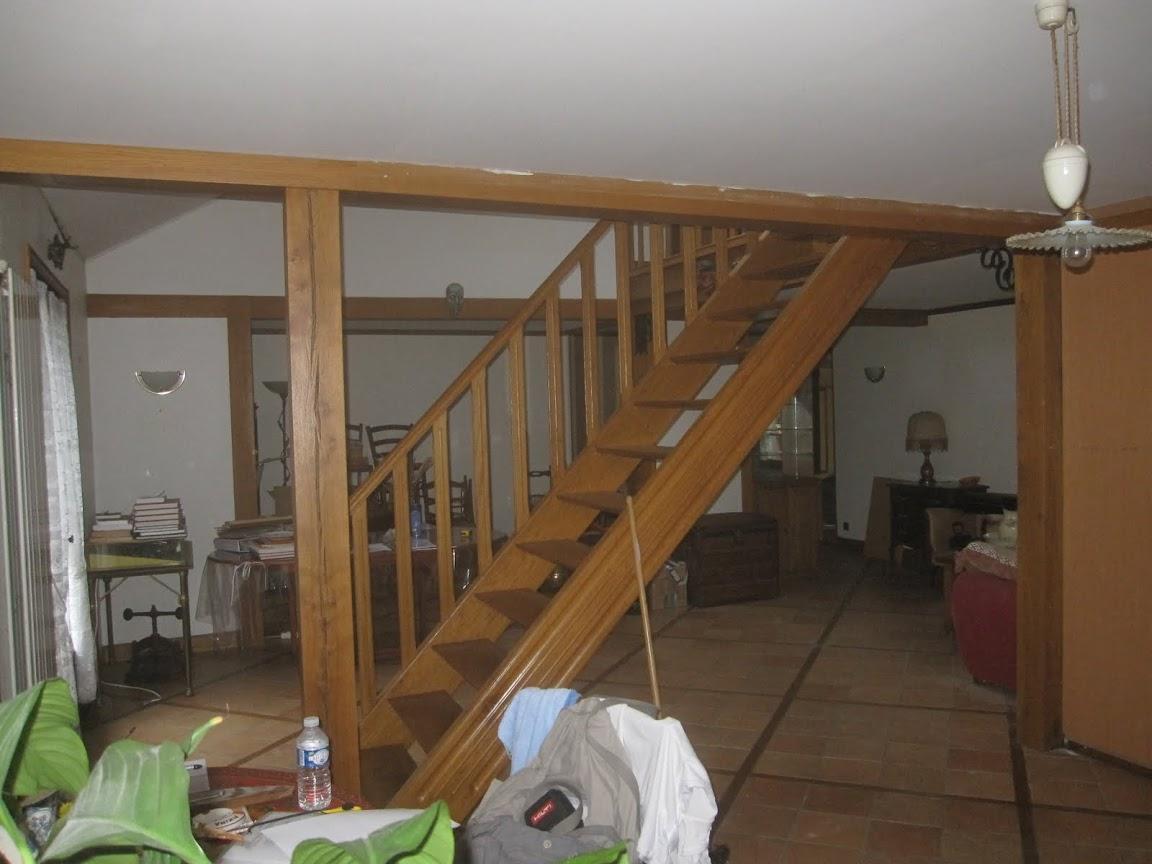 Escalier bois 95 avant 1