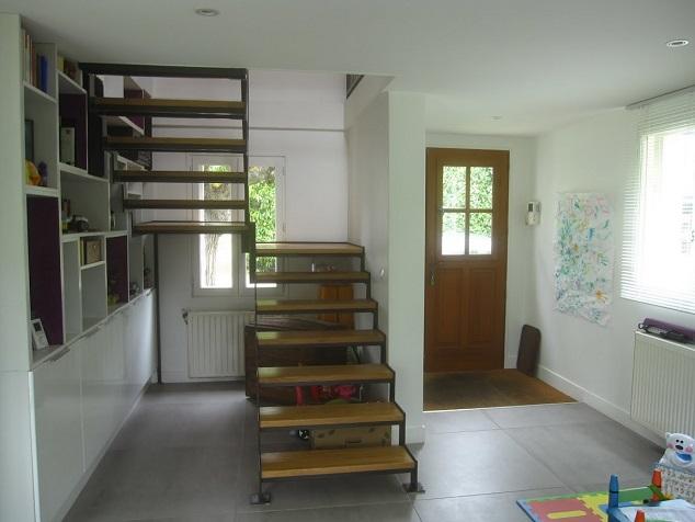 Escalier metal bois 95 2