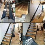 Escalier sur mesure acier chene oise 60