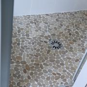 Douche italienne galets clairs