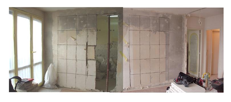 Mur porteur salon cuisine paris 75