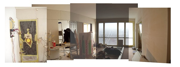 Ouverture entre le salon et la chambre 2