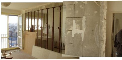 Ouverture mur porteur entre le salon et la cuisine