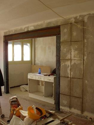 r novation compl te avec l 39 ouverture d 39 un mur porteur. Black Bedroom Furniture Sets. Home Design Ideas