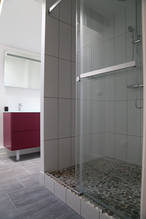 Sdb avec la douche italienne oise 60 apres