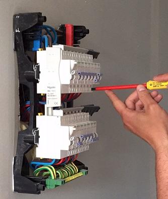 Tableau electrique 2 ranges